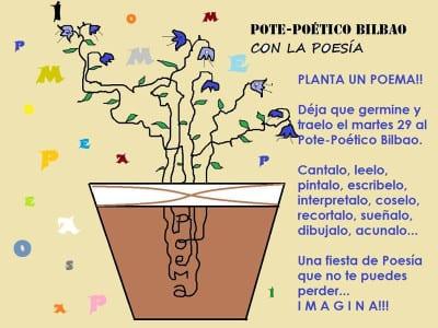 Pote-Poético Bilbao con la Poesía   ¡Planta un poema!   29/03/2016   Taberna Zabala - Bilbao