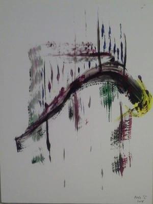 Anguila en apuros sobre pentagrama Johann Sebastian Bach | Obra plástica | 2016 | Hipólito 'Bolo' García Fernández