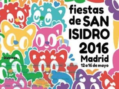 Fiestas de San Isidro 2016 | Madrid | Del 12 al 16 de mayo de 2016 | Distritos