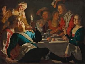 'Caravaggio y los pintores del norte' | Museo Thyssen-Bornemisza | Madrid | Del 21/06 al 18/09/2016 | Alegre compañía (1622) | Gerard Van Honthorst