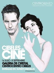 Cibeles de Cine | Galería de Cristal | CentroCentro Cibeles | Sunsent Cinema | 14/07 - 08/09/2016 | Retiro - Madrid | Cartel