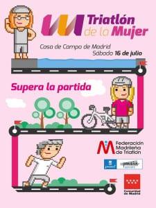 Día del Triatlón de Madrid 2016 | Casa de Campo de Madrid | Sábado 16 de julio de 2016 | Federación Madrileña de Triatlón | Comunidad de Madrid | Ayuntamiento de Madrid | Triatlón de la Mujer