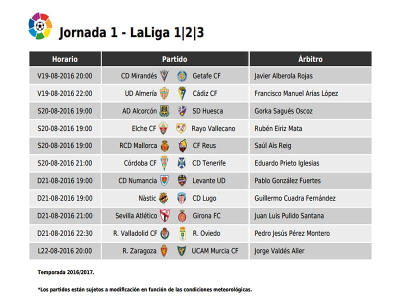 As Calendario Liga 123.Vuelve La Liga Y La Segunda Division Viene Fuerte