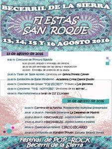 Fiestas de San Roque 2016   Becerril de la Sierra   Comunidad de Madrid   13, 14, 15 y 16 de agosto de 2016   Programa 1