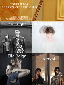6º ciclo de conciertos 'A las veinte cero cero' | Museo Cerralbo y Museo del Romanticismo | Octubre 2015 - Febrero 2016 | The Bright - Alondra Bentley - Elle Belga - Nerval