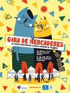 Gira de Mercaderes Otoño 2016 | El diseño independiente llega al mercado de tu barrio | Sábados del 17/09 al 29/10/2016 | Cartel