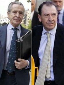 Miguel Blesa, ex-presidente de Caja Madrid, e Ildefonso Sánchez-Barcoj, su hombre fuerte