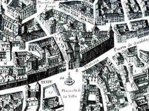 Plaza de la Villa | Plano de Pedro Texeira (1656) con la desaparecida iglesia de San Salvador | Madrid de los Austrias | Centro | Madrid