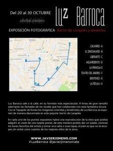 Luz Barroca   Javier Jimeno   20 al 30/10/2016   Exposición fotográfica   Barrio de Lavapiés y aledaños