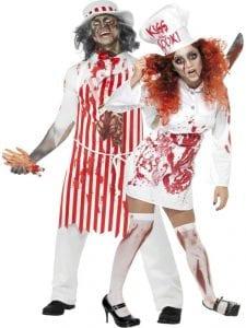Túnel del Terror más largo de la Comunidad de Madrid   Colmenar Viejo   28 al 31/10/2016   Pareja de carniceros zombies del Restaurante Terrorífico del Chef Mortimer
