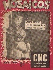 En esto llegó Fidel, se acabó la diversión   Sarita Montiel en portada del cancionero Mosaicos de julio 1958   Cuba