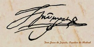 Firma de Juan de Zapata y Luján, capitán de los comuneros de Madrid