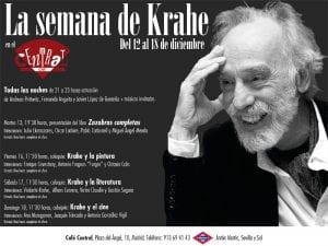 'La Semana de Krahe'   Conciertos y coloquios   Café Central   Madrid   12 al 18/12/016   Cartel