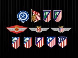 Club Atlético de Madrid | Evolución del escudo oficial | 1903-2016 | Fuente CAM