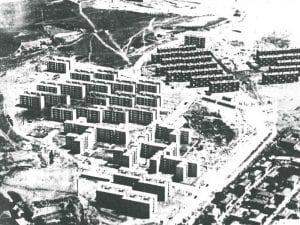 Distrito de Moratalaz   Madrid   Vista aérea hacia 1961
