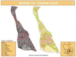 Planos 9 barrios del distrito de Ciudad Lineal   Madrid   Fuente DGE del Ayuntamiento de Madrid