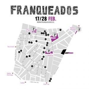 Franqueados JustMAD 2017   Barrio de Malasaña   Madrid   17 al 28/02/2017   Mapa comercios participantes