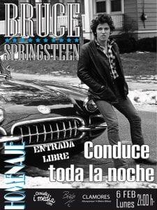 Homenaje a Bruce Springsteen   'Conduce toda la noche'   'Bolo' García y Camiseta i media   Sala Clamores   Madrid   Entrada libre   06/02/2017