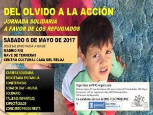 'Del olvido a la acción' | Jornada solidaria pro refugiados | Sábado 6 mayo 2017 | ONG Te doy mi llave - AMPAs Arganzuela | Madrid