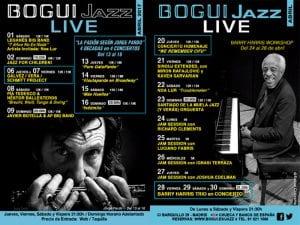 Programación | Conciertos Bogui Jazz | Abril 2017 | Chueca - Centro - Madrid | Cartel