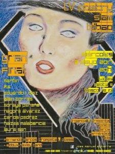 55º Poetry Slam Bilbao | LuzGas Café Bar | Bilbao | 03/05/2017 | Cartel: 'Travesti con moscas (circa 1980) de José Manuel Ezquerra