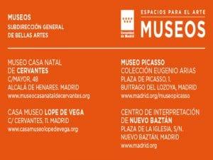 Día y Noche de los Libros en los museos de la Comunidad de Madrid   21 al 23 de abril de 2017   Espacios para el Arte