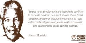 Día de Nelson Mandela | 18 de julio | 67 minutos para ayudar a los demás | 'La paz no es simplemente la ausencia de conflicto...'