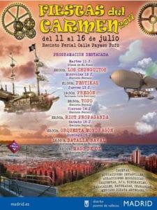 Fiestas del Carmen 2017 en Puente de Vallecas | 11 - 16/07/2017 | Madrid | Cartel destacados