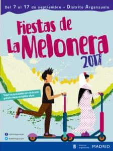 Fiestas de La Melonera 2017 | Arganzuela | Madrid | 07-17/09/2017 | Cartel