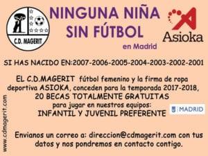 Ninguna niña sin fútbol en Madrid | CD Magerit y Asioka | Temporada 2017-2018 | Cartel