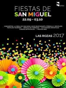 Fiestas de San Miguel 2017 en Las Rozas de Madrid | Comunidad de Madrid | 22/09 - 03/10 | Cartel