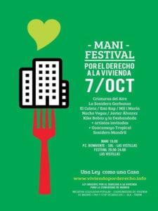 Mani Festival por el Derecho a la Vivienda | 'Vivienda a Debate. Una Ley como una Casa' | Madrid | 07/10/2017 | En apoyo a la ILP Urgente del Derecho a la Vivienda en la Comunidad de Madrid | Cartel