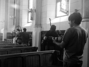 Lutero en España. La Reforma invisible | Documental de Pandorga Comunicación y Televisión Española | Quinto Centenario de la Reforma | 1517-2017 | Grabando en una iglesia | Foto Pandorga Comunicación