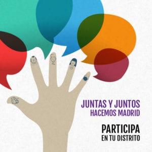 Plenos Foros Locales de Madrid   Participa en tu distrito   Del 23/02 al 24/03/2018   Juntas y juntos hacemos Madrid