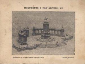 Monumento a Alfonso XII | 1922 | José Grases Riera | Estanque grande del parque del Retiro | Madrid | Invitación inauguración 06/06/1922