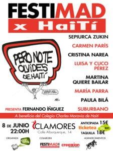 Concierto FestiMAD x Haití   Sala Clamores   Madrid   08/06/2018   22:00 h   Cartel