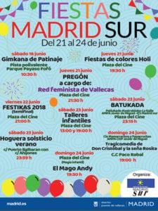 Fiestas Madrid Sur 2018 | Puente de Vallecas | Madrid | 16-24/06/2018 | Cartel