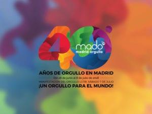 Madrid Orgullo 2018   Fiesta del Orgullo LGBT   28/06-08/07/2018   Barrio de Chueca   Madrid   Cartel