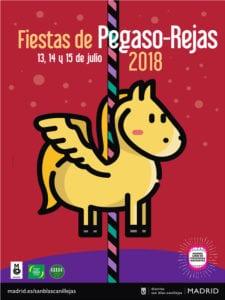 Fiestas de Pegaso-Rejas 2018 | San Blas-Canillejas | Madrid | 13-15/07/2018 | Cartel