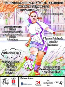 1er Torneo Nacional de Fútbol Femenino 'Vicente Temprado'   28-30/12/2018   Humanes de Madrid   Cartel
