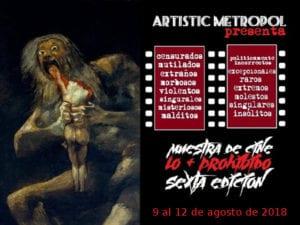 6ª Muestra de Cine 'Lo + Prohibido' en Artistic Metropol | 09-12/08/2018 | Arganzuela - Madrid | Cartel
