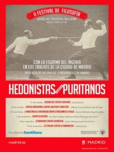 2º Festival de Filosofía | 'Hedonistas contra puritanos' | Madrid | Octubre - Noviembre 2018 | Cartel
