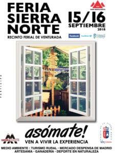 Feria Sierra Norte de Madrid 2018 | Venturada | Comunidad de Madrid | 15 y 16/09/2018 | Cartel