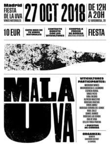 MalaUva | Feria del Vino Natural | 100 vinos naturales en Lavapiés | 27/10/2018 | La Canibal de Lavapiés | Madrid | Cartel