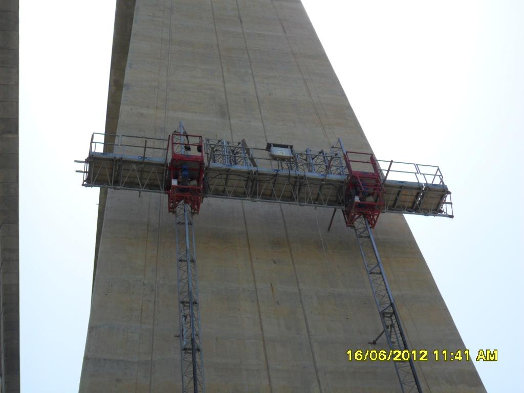 piattaforma elevabile ascensore da ponteggio manutenzione viadotto