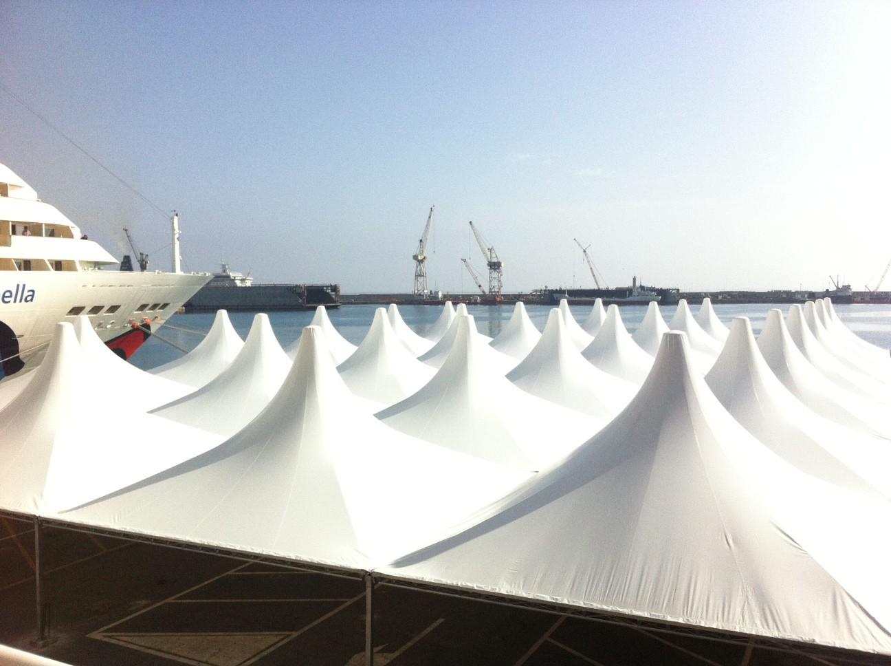 tendostruttura stazione marittima