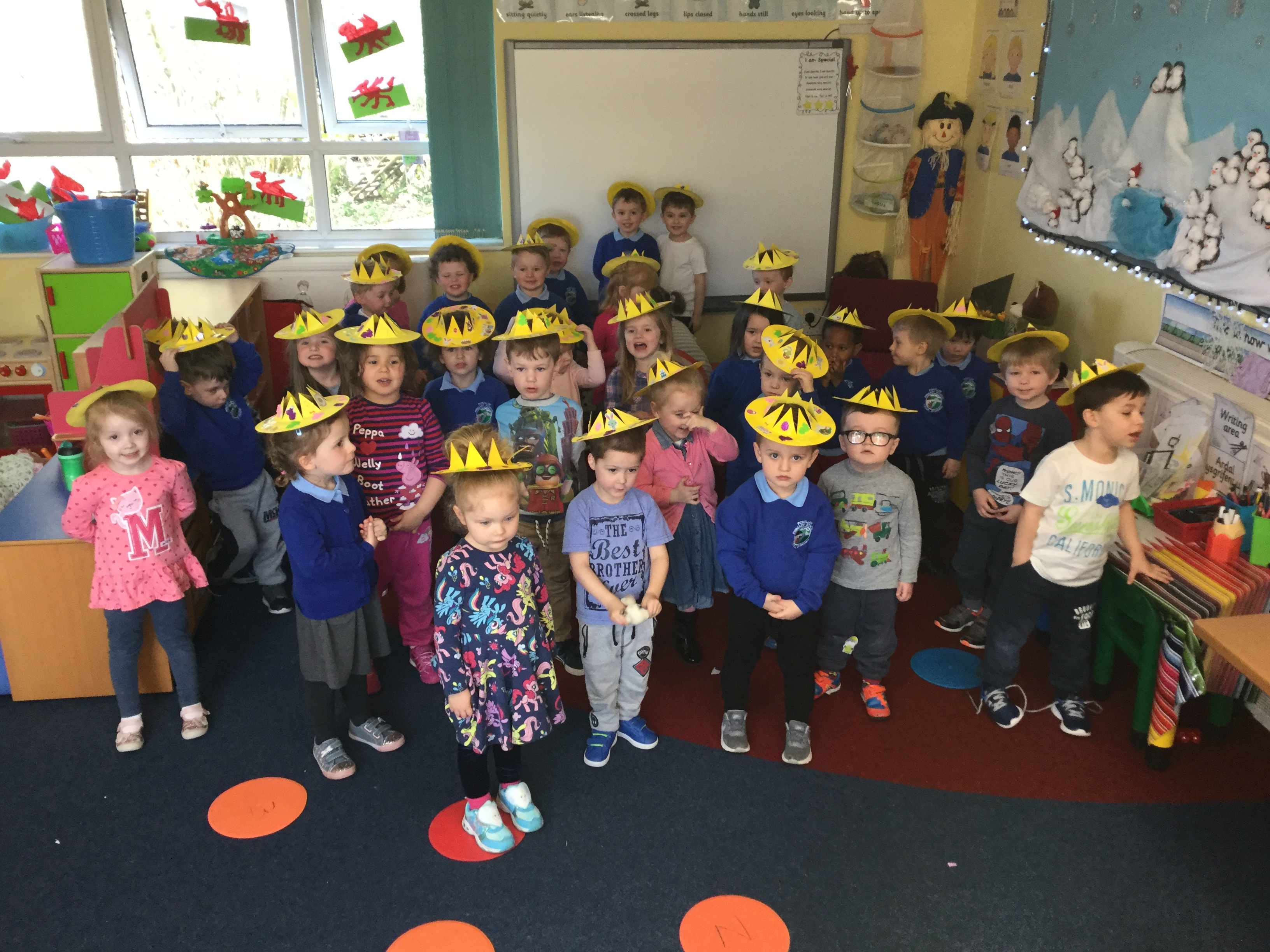 Look at our lovely Easter crowns!