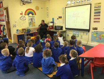 P.C. Hinds visits Year 1