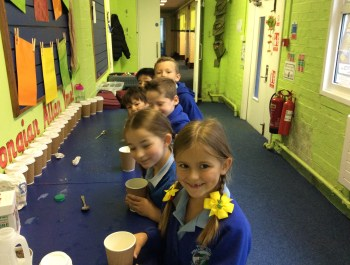 Cups of tea for Year 3!