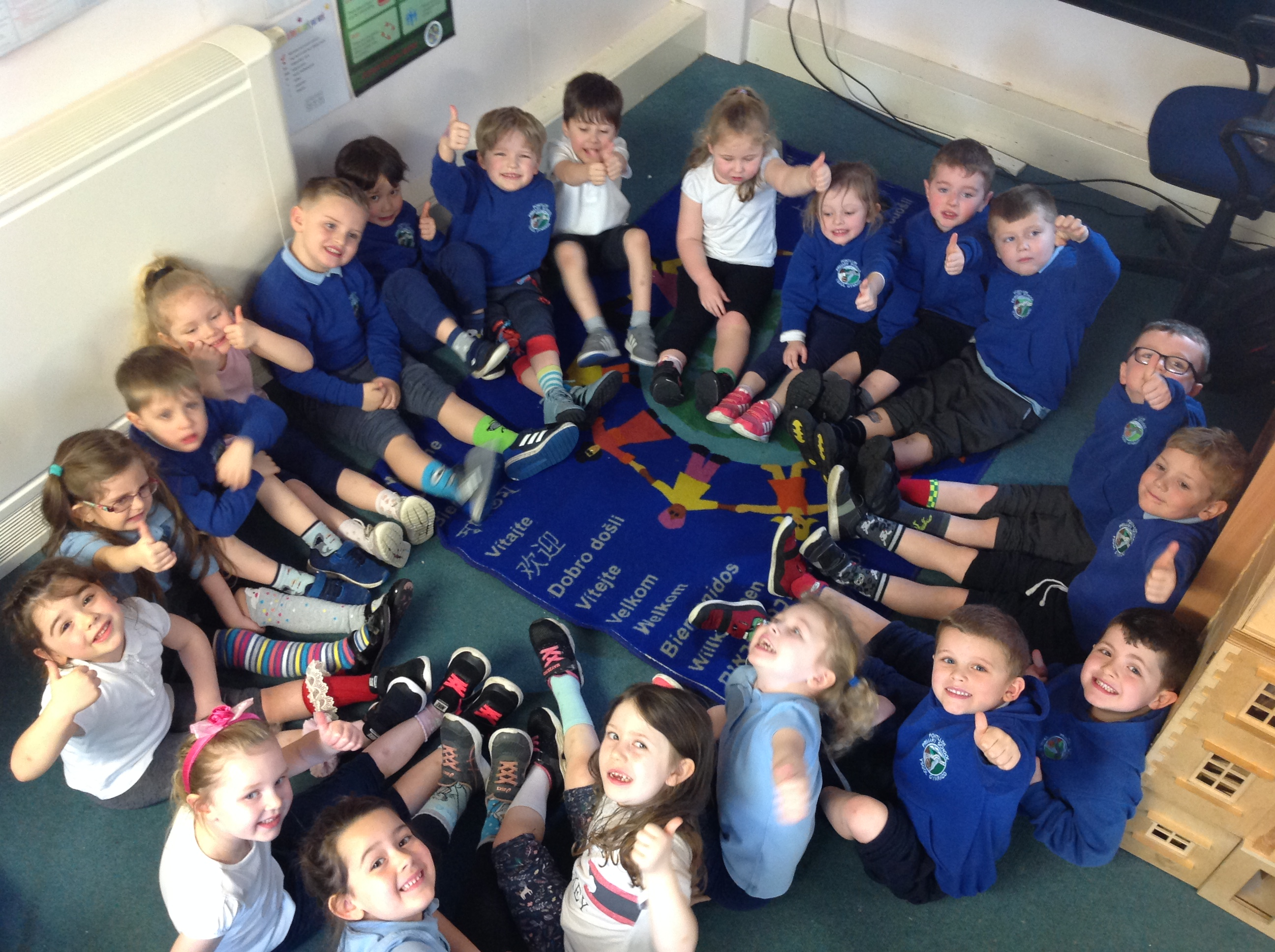 Reception are ROCKING odd socks!